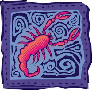 logotipo de escorpio