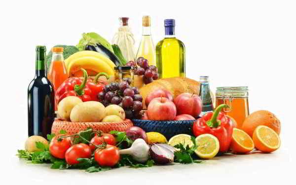 Alimentos de una dieta mediterránea