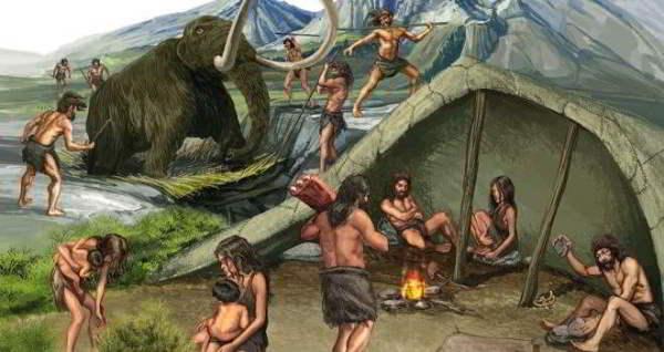 Caza del mamut en la Edad de Piedra